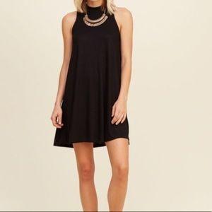 Hollister Halter Black Ribbed Dress